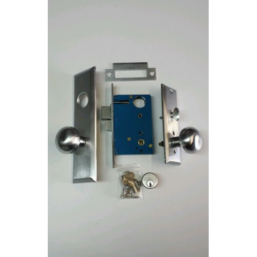 angal locks mortise lock set 715a 26d silver